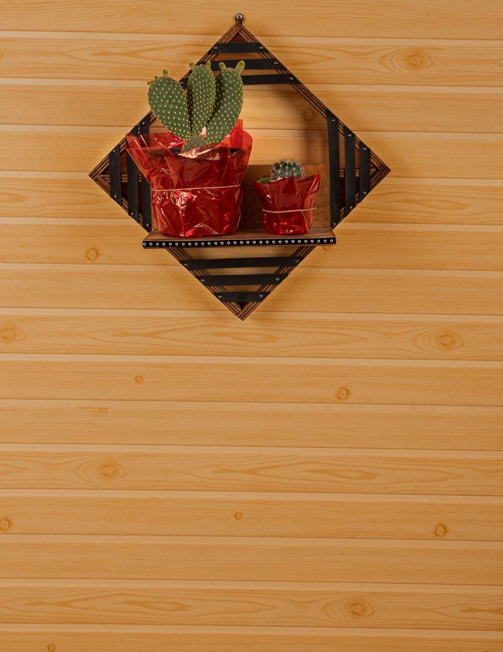 Raft de perete lemn stratificat Epsilon Homs42 x 42 x 12 cm, maro