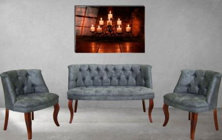 Decoratiuni de vara cu un set canapele si fotolii